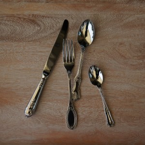 Katie Alice Vintage Stainless Steel 'Shabby Chic' Cutlery Set