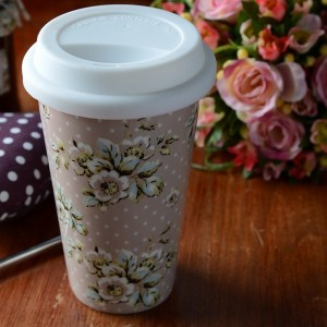 Katie Alice 'Cottage Flower' Insulated Travel Mug