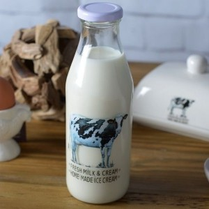 Farmers Market Milk Bottle