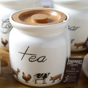Farmers Market Tea Storage Jar