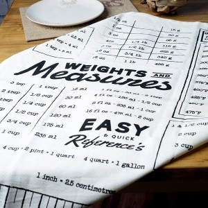 Farmers Market Measurements Tea Towel