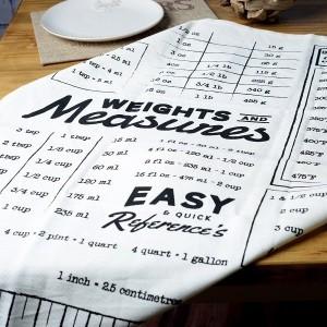 Farmers Market Measurements Tea Towel