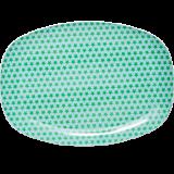 Rectangular Melamine Plate with Star Print