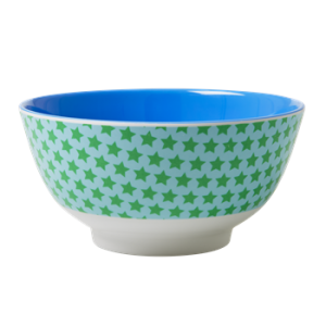 Melamine Bowl Two Tone with Star Print