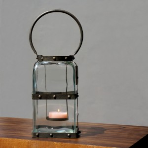 Rectangular Matti Glass Tealight Holder