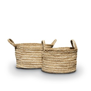 Oscar Sisal Basket - Round Tapered w/ Lid