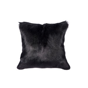 Black Goatskin Cushion