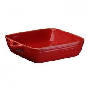 Terracotta Sq Oven Dish 26cm, Rustic Red, Jamie Oliver