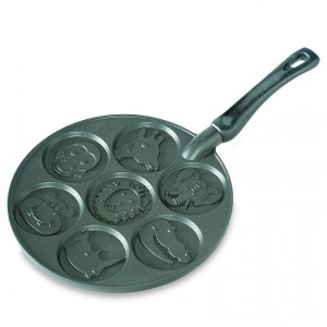 Cast Alum Zoo Friends Pancake Pan , Nordicware