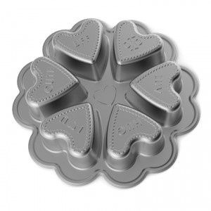 Cast Alum Mini Heart Baking Cake Pan , Nordicware