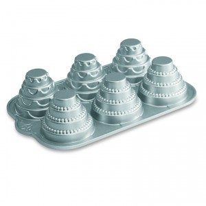 Cast Alum Celebration Tiered Cakelet Pan , Nordicware
