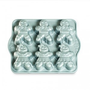 Cast Alum Gingerbread Kids Cakelet Pan, Nordicware