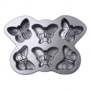 Cast Alum Butterfly Muffin Cake Pan , Nordicware