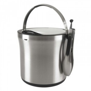 STEEL ICE BUCKET & TONGS SET OXO