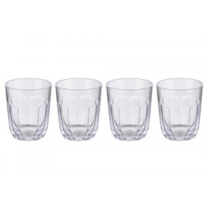 San Acrylic Tumbler, Pack of 4, Transparent, Jamie Oliver