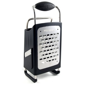 4-Sided Box Grater , Black, Specialty, Microplane