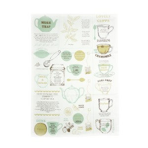 La Cafetiere Tea Facts Tea Towel