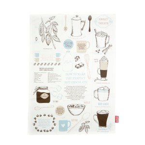 La Cafetiere Chocolate Facts Tea Towel