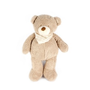 Lovely Brown Plush Bear With Scarf