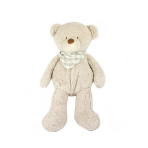 Lovely Grey Plush Bear With Scarf