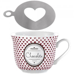 La Cafetiere Choco Mug & Stencil Gift Set