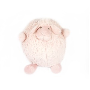 PINK SHEEP PLUSH TOY BALL