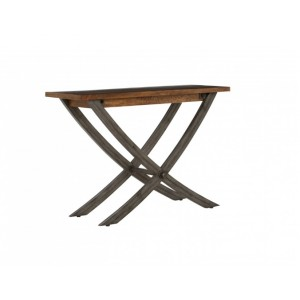 Cross Leg Console Table Smokehouse Rustic