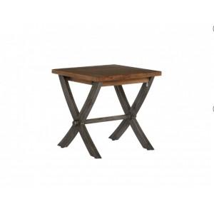 Cross Leg Lamp Table Smokehouse Rustic