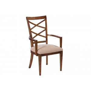 Double Cross Back Beidermeier Arm Chair