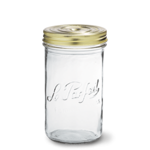 LE PARFAIT GLASS SCREW TOP PRESERVING JAR 1L