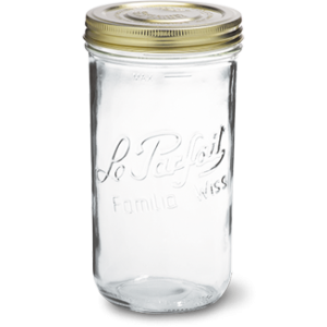 LE PARFAIT GLASS SCREW TOP PRESERVING JAR 1.5L