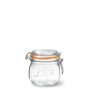 LE PARFAIT GLASS PRESERVING JAR W/CLIP 500ML