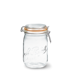 LE PARFAIT GLASS PRESERVING JAR W/CLIP 1L