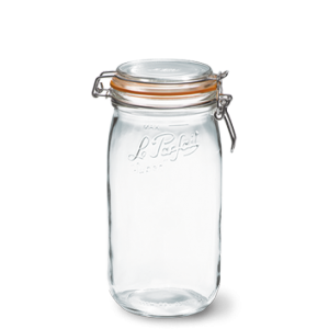 LE PARFAIT GLASS PRESERVING JAR W/CLIP 1.5L
