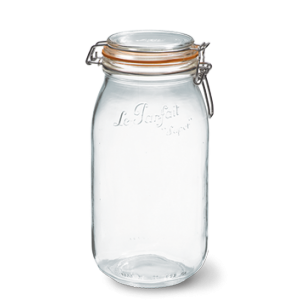 LE PARFAIT GLASS PRESERVING JAR W/CLIP 2L