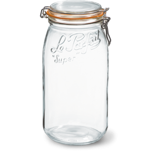LE PARFAIT GLASS PRESERVING JAR W/CLIP 3L