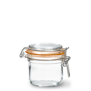 LE PARFAIT GLASS PRESERVING JAR W/CLIP 200ML TERRINES SUPER