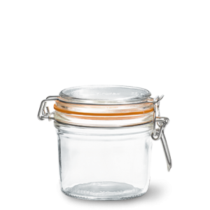 LE PARFAIT GLASS PRESERVING JAR W/CLIP 350ML TERRINES SUPER