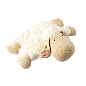 LYING SHEEP CUSHION WHITE 50CM