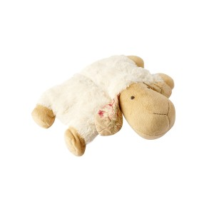 LYING SHEEP CUSHION WHITE 40CM
