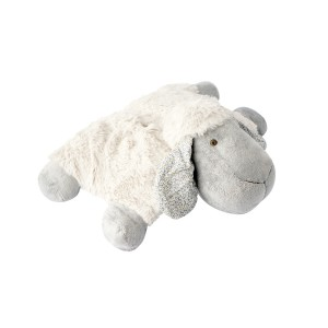 LYING SHEEP CUSHION BLUEGREY 40CM