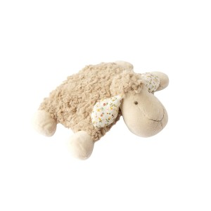 LYING SHEEP CUSHION BEIGEFLORAL 28CM