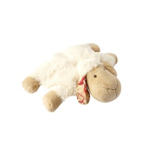 LYING SHEEP CUSHION WHITE 28CM