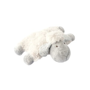 LYING SHEEP CUSHION GREY 28CM