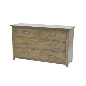 6 Drawer Chest Smokehouse Rustic