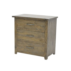 3 Drawer Chest Smokehouse Rustic