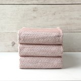 Peach Knitted Napkin set of 3
