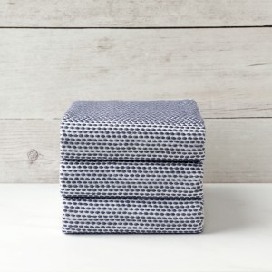 Navy Knitted Napkin set of 3