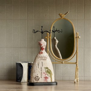 JEWELRY HANGER FAITH GREEN BIRD