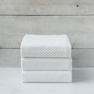 White Jacquard Napkin set of 3